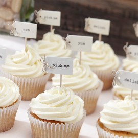 12 Toppers pour Cupcakes Vintage