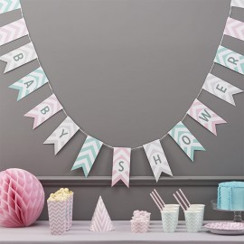 Fanion Baby Shower Chevron