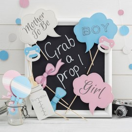 10 Accessoires pour Photobooth Baby Shower