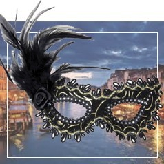 Masques Loup Plumes