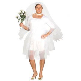 Déguisement de Mariée pour Homme avec Robe