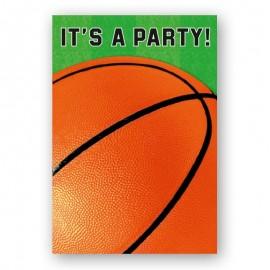 8 invitations basket pour Sportifs