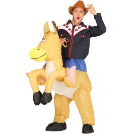 Déguisement de Cowboy Adulte Cheval Gonflable