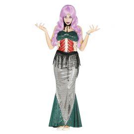Déguisement Sirène Zombie pour Femme avec Tour de Cou