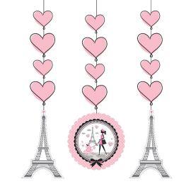 3 Pendentifs Paris 91 cm