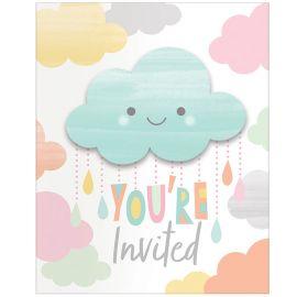 8 Invitations Nuages