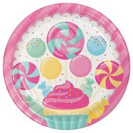 8 Assiettes Candy 23 cm