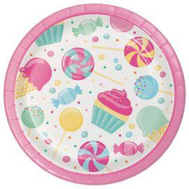 8 Assiettes de Candy 18 cm