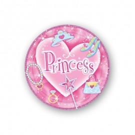 8 Assiettes Style Princesse 18cm