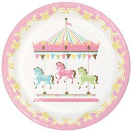 8 Assiettes Carrousel 23 cm