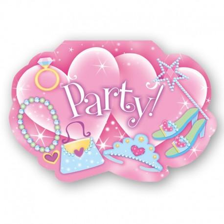 8 Invitations Princesse