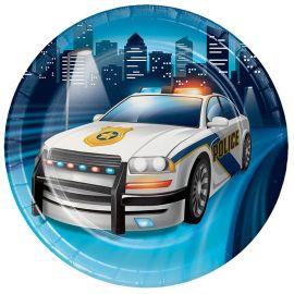 8 Assiettes Police 18 cm