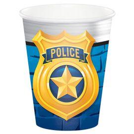 8 Verres Police 266 ml