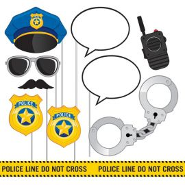 10 Accessoires Police pour Photocall