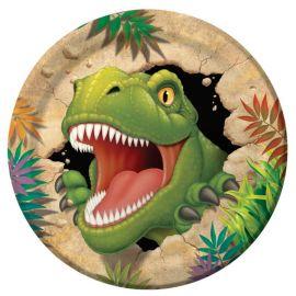 8 Assiettes Dinosaures 23 cm