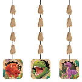 3 Suspensions Dinosaure 91 cm