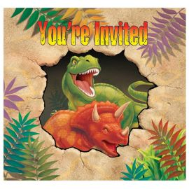 8 Invitations Dinosaures