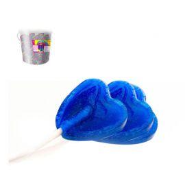 Paquet de Sucettes Coeur Piruleta Bleues 175 Uts