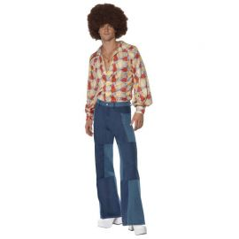 Déguisement des Années 70 avec Pantalon Large pour Homme