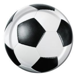 8 Assiettes Style Football 18cm