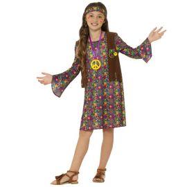 Disfraz de Hippie para Niña con Estampados