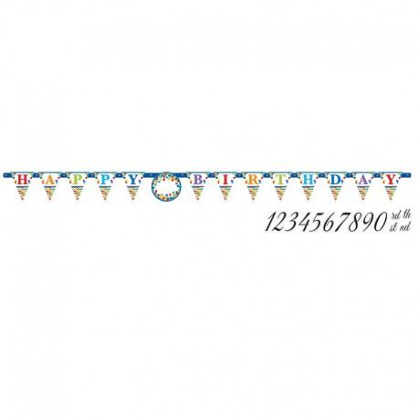 Pancarte Happy Birthday Multicolore
