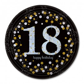 8 Assiettes 18 style Elegant 23 cm
