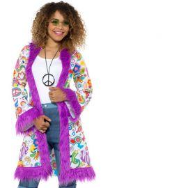 Manteau Style Hippie Paix et Amour pour Femme