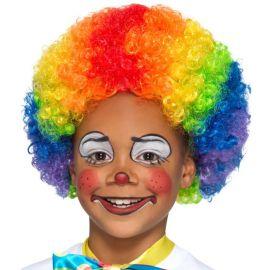 Perruque de Clown Multicolore Enfant