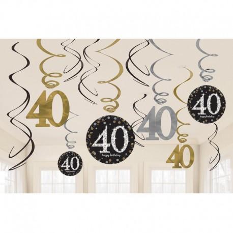 12 Pendentifs 40 Elegant