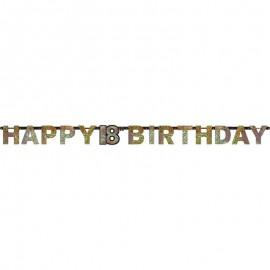 Guirlande Happy Birthday 18 Elegant
