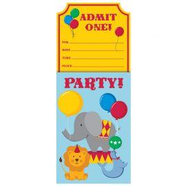 8 Invitaciones Circo