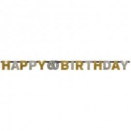 Guirlande Happy Birthday 60 Chic