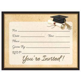 8 Invitations Sophistiquées Grad 18 cm
