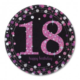 8 Assiettes 18 Elegant Pink 23 cm
