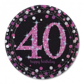 8 Assiettes 40 Chic Pink 23 cm
