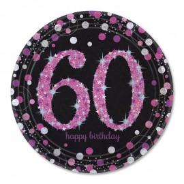 8 Assiettes 60 Elegant Pink 23 cm