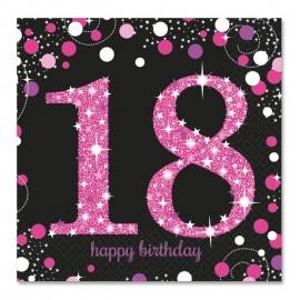 16 Serviettes 18 Chic Pink 33 cm