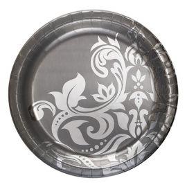 18 Assiettes de Noces d'Argent 26 cm