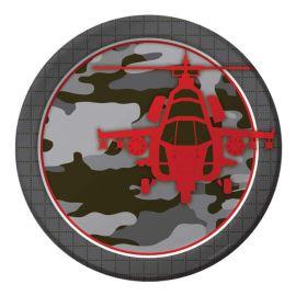 8 Assiettes Militaire 23 cm