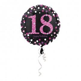 Ballon Mylar 18 Elegant Pink 43cm
