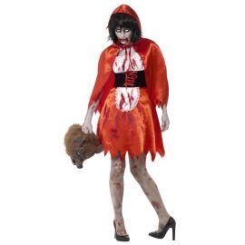 Déguisement de Chaperon Rouge Zombie pour Femme