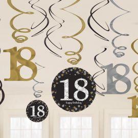 12 Pendentifs 18 Elegant