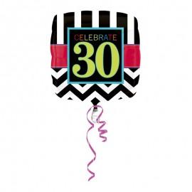 Ballon Mylar 30 Chevron 43cm