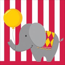 16 Serviettes Circus Time 33 cm