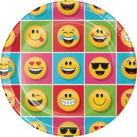 8 Assiettes Emoticônes 23 cm
