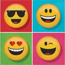 16 Serviettes Smiley 33 cm