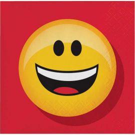 16 Serviettes Emoticônes 25 cm