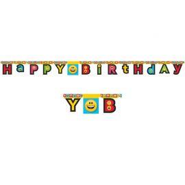Guirlande Emoticônes Happy Birthday 2,10 m