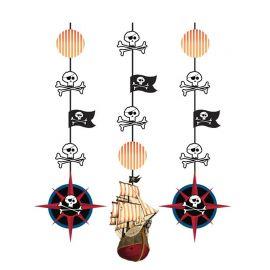 3 Pendentifs Bateau Pirate 91 cm